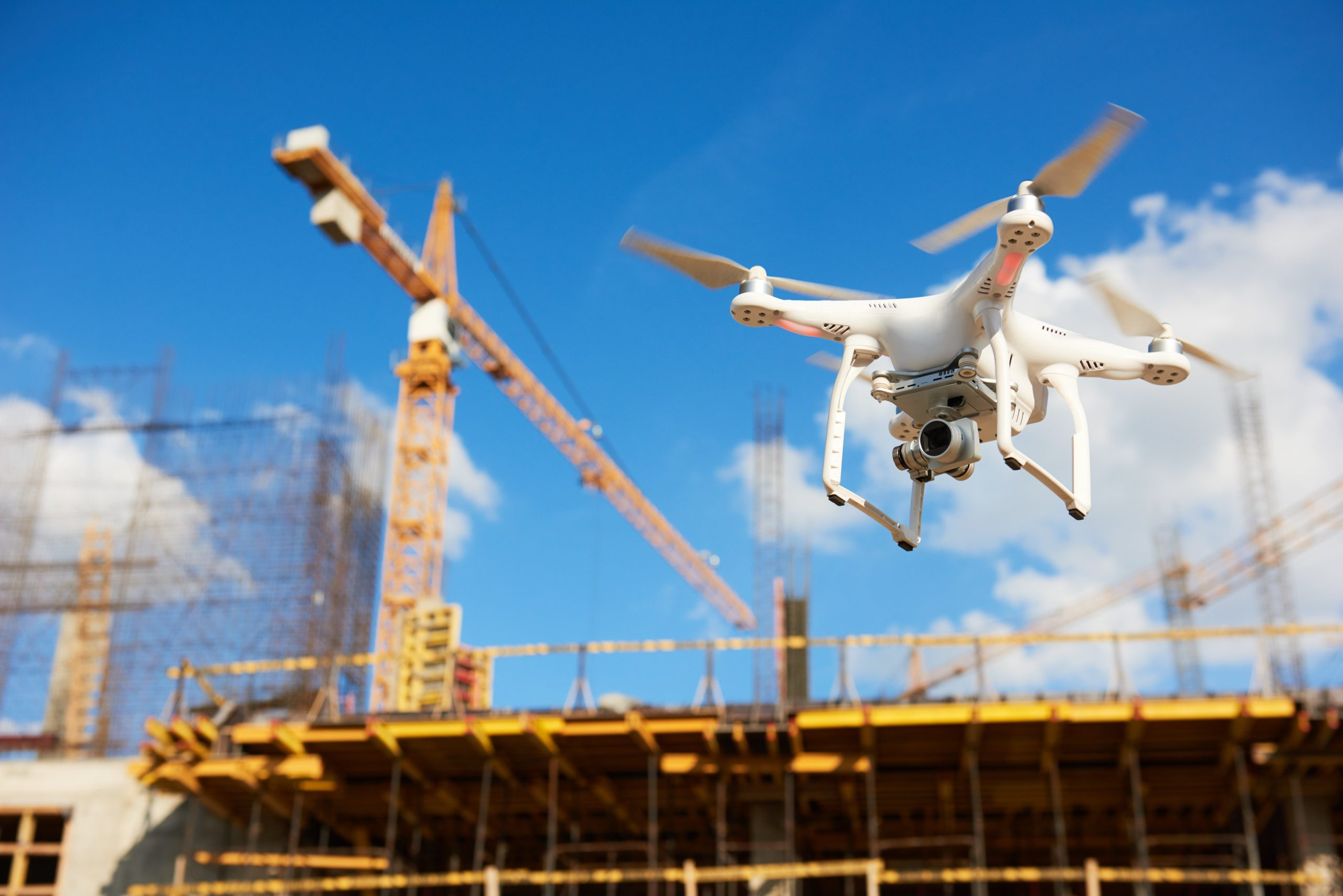Drone on a job site and other construction technology